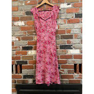 VINATGE PAISLEY FLORAL Y2K DRESS PINK